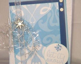 Let it snow Winter Handmade Greeting Card