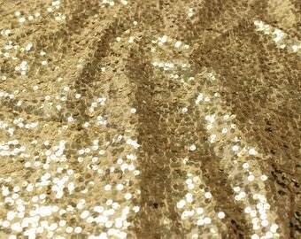 "55"" Wide Taffeta Rain Drop - GOLD Sequin Fabric - Sold By The Yard - Sequin Taffeta Sequin Fabric"