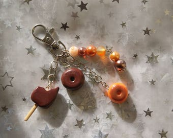 Ice jewelry bags with orange and its donuts
