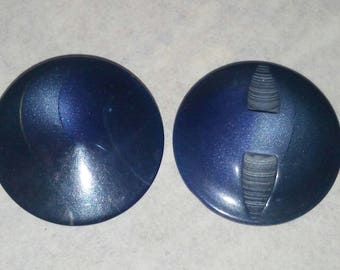LARGE buttons 30 mm VINTAGE blue shades