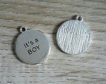 lot 5 baby boy silver charms