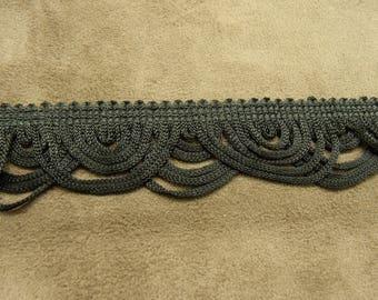 Fringe Brown polyester - 3 cm