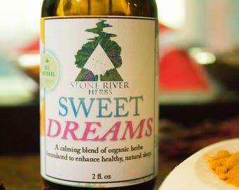 Sweet Dreams Herbal Tincture 2oz – Skullcap, Passionflower, Valerian, Wild Lettuce - Sleep Support Extract