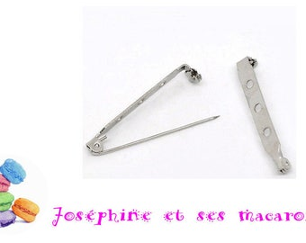 1 39 X 5 mm safety pin brooch