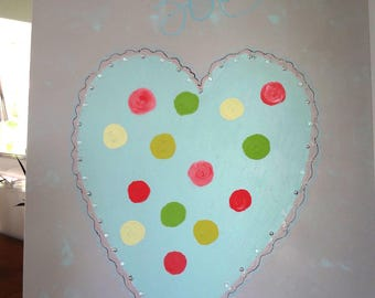 Heart table for interior design children or adults