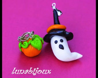 Halloween ghost pumpkin halloween jewelry earring
