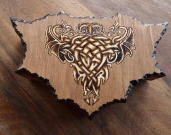 Available: box asymmetrical Celtic dragon fragmented