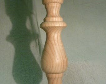 Raw wood, candle holder - handcrafted shooting style lamp