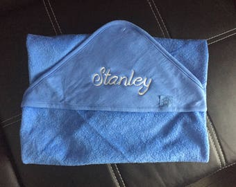 Personalized embroidery baby bath Cape