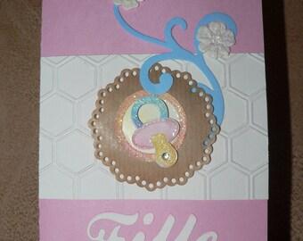 baby or girl congratulations card