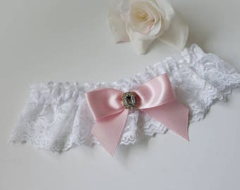Wedding Garter Bridal Garter White Lace Garter Lace Wedding Garter