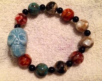 Skull stretch bracelet