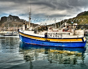 Printable Wall Art - Feeling Blue in Houtbay, South Africa, Original Photography print