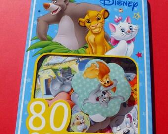 80 stickers Disney animals the world of Disney stickers