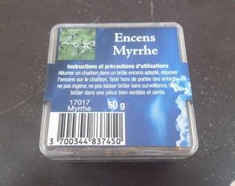 Box of 50 gr grain myrrh resin incense