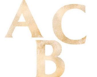 Set Mural art Klumpies alphabet letters