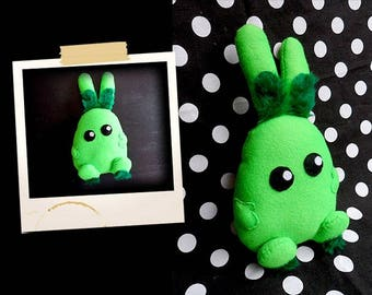 Plush green and cute Bunny shaped APLUCHES