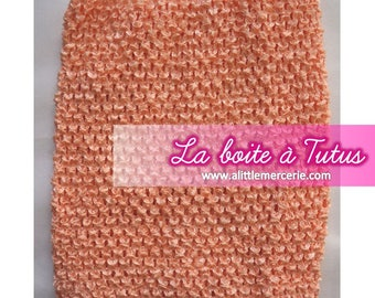 ★ 2/3/4/5/6 years strapless stretch crochet tutu dress for baby girl PASTEL salmon peach coral ★
