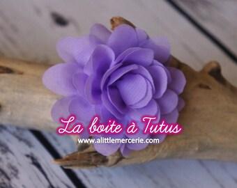 ★ Flower Applique fabric Lily chiffon strapless headband diy belt ★ Lavender