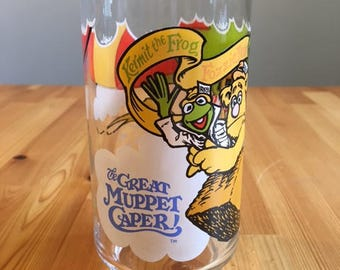McDonald's Collectibles The Great Muppet Caper/ Muppets/ Muppet Babies/ Jim Henson/ Vintage Drinking Glass Kermit, Fozzie, Gonzo, Ms. Piggy