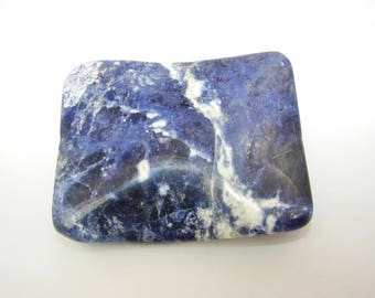 Rectangular 40 x 50 mm Sodalite beads. (8205376)