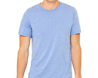 Triblend Short Sleeved Tee with Logo