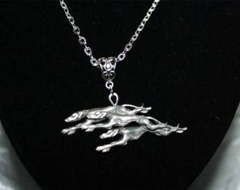 chain with three greyhounds