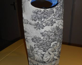 Tote toile de Jouy black and white reversible