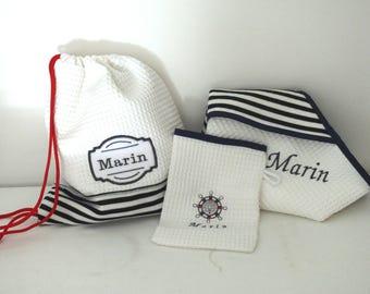 Exit Bath set, washcloth and matching bag