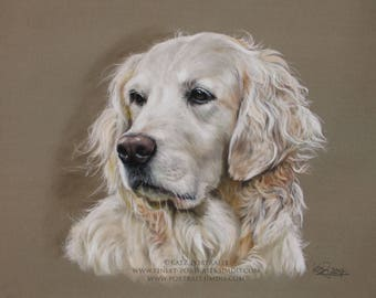 Custom Dogportrait pastel drawing from your favorite photo