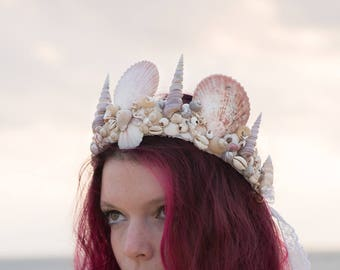 Mermaid crown - DEER & Son - seashells - shells-festivals - burningman - Mermaid seashells - Crown wedding