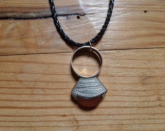 Tuareg necklace + antique ring - Niger