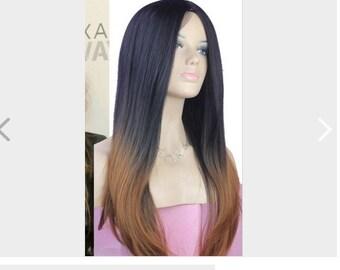 30% Real Human Hair Ombre Long Hair Wig Human Skin Imitation! Free Worldwide Shipping!!!!!