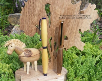 """""""HORSE"""" SOLID WOOD PENCIL HOLDER"""