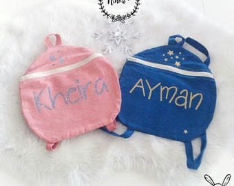 Coral bag child backpack personalized coral