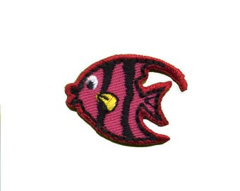 patch fusible pink little fish