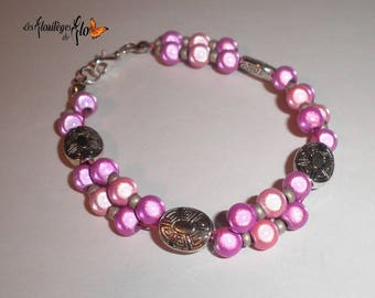 00778 - Magical bracelet pink and silver