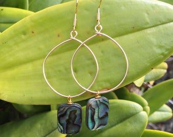 Hoop Earrings, Unique, Hancrafted in Hawaii