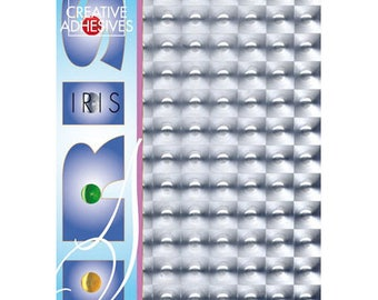 4 self-adhesive A4 effect bubbles silver leaves - JJ86410