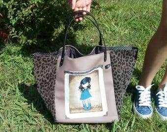 Tote bag reversible gorjuss theme