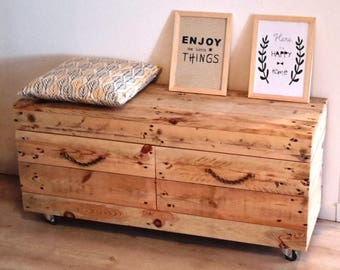 Lower cabinet with drawers in pallets
