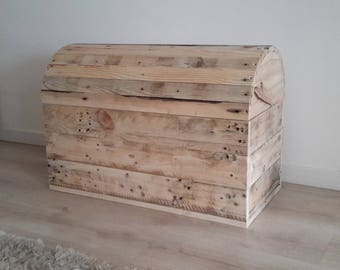 upcycled wooden storage box '