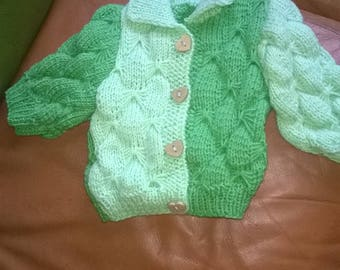 small size green vest birth