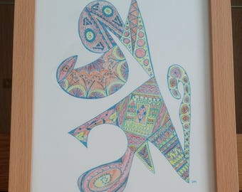 Gecko - Signed Limited Edition Fine Art A4 Giclee Print on Bamboo Paper