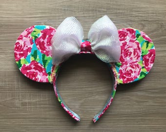 Lilly Pulitzer inspired Ears