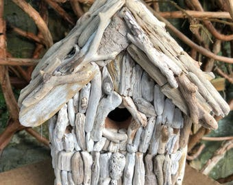 Birdbox, driftwood birdbox. Bird box