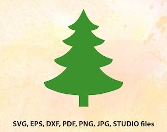 Christmas Tree SVG File | Christmas Tree Cut File | Png | Cricut | Cameo File | Svg Silhouette | Studio File | Christmas Tree Dxf | Vector