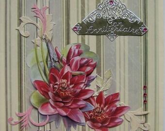 Good birthday card nenupharsl 3D Bouquet