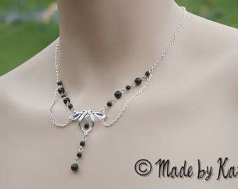 Necklace black Celtic Victorian Gothic Victorian Medieval magical Renaissance Costume