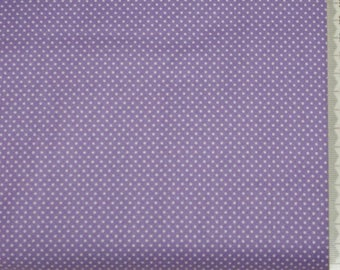 Makower - polka dots fabric (1 mm) white on purple background